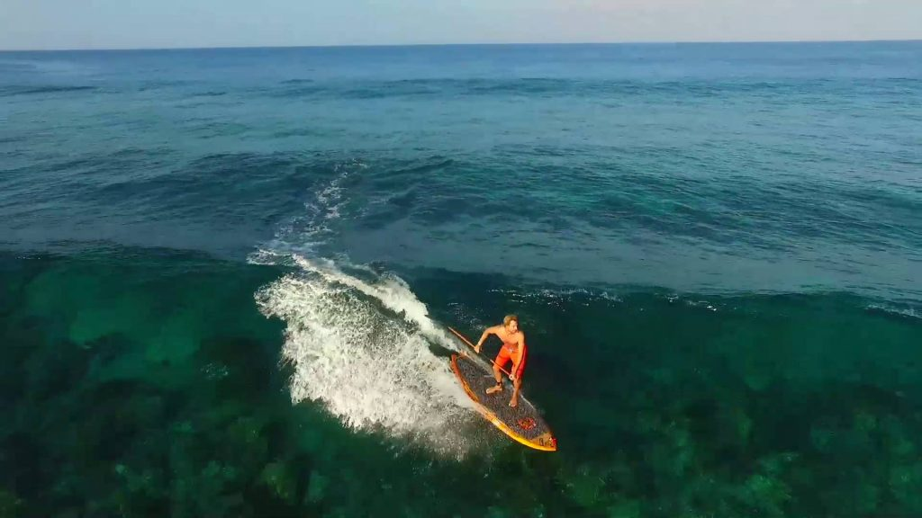 paddle-surfing