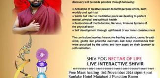 Shiv Yog Nectar of Life Live Interactive Shivir in Jakarta, 4-6 Nov