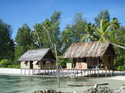 Typical homestay at Raja Ampat