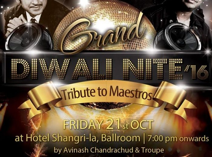 Tribute to the Maestros – India Club Diwali Nite 21st Oct, 2016