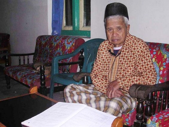 Mbah Marijan, the former famous 'kuncen' of Mount Merapi in Yogyakarta.
