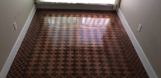 A Woman Uses 13,000 Pennies to Decorate the Floor