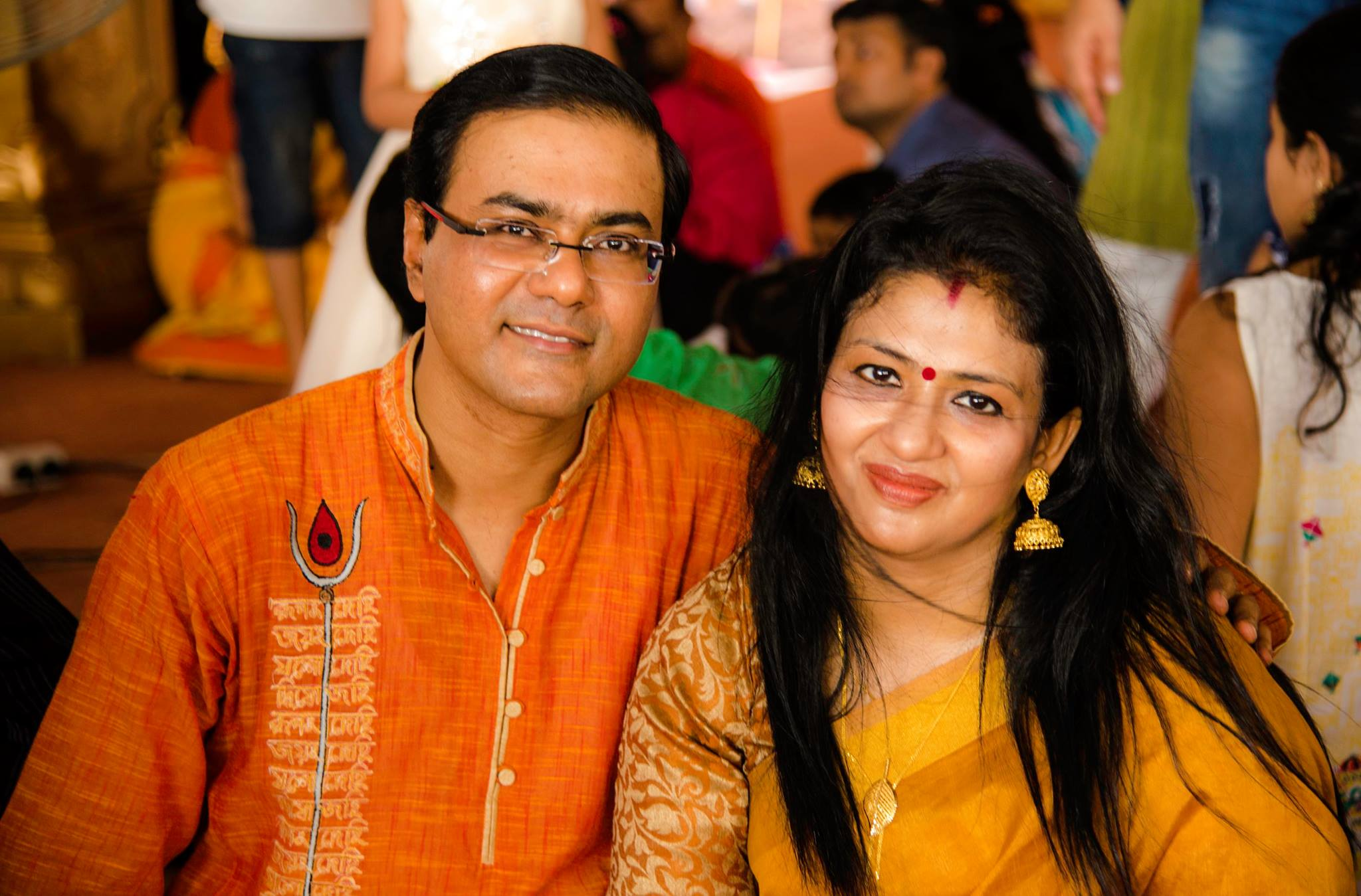 Jaideep with his wife, Paromita