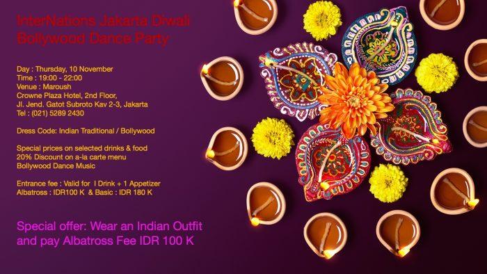 InterNations Jakarta & Indoindians Diwali – Bollywood Party on 10th Nov