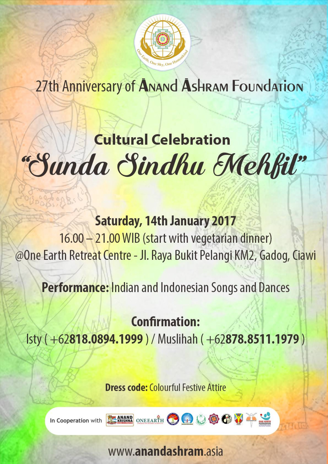 27th Anniversary of Anand Ashram Foundation: Sunda Sindhu Mehfil Cultural Celebration
