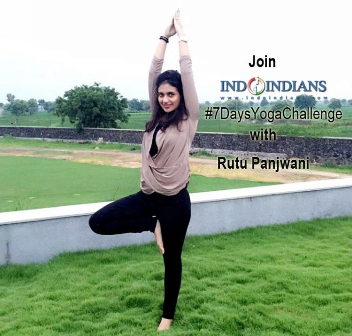 Join the Indoindians #7DaysYogaChallenge from Monday, 23 Jan, 2017