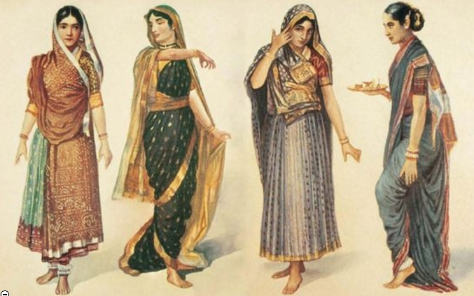 Traditional saree styles