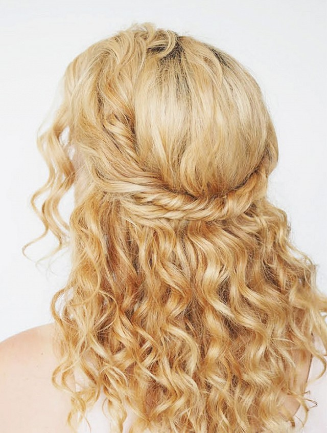 blond curly hairstyle