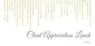 Invitation for Client Appreciation Lunch 2017