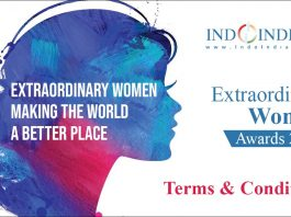 Terms & Conditions for Indoindians Extraordinary Women Awards