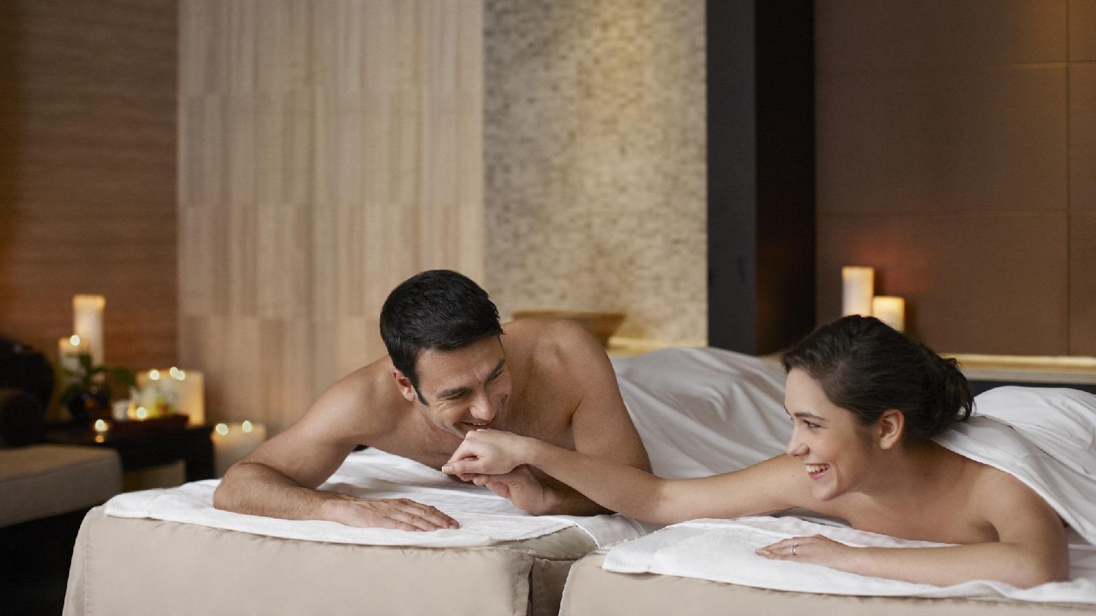 Having sex at a spa
