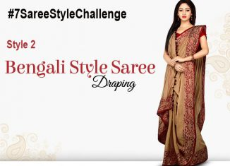 bengali style saree #7SareeStyleChallenge #indoindians