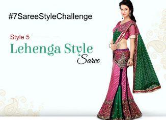 DIY lehenga style saree