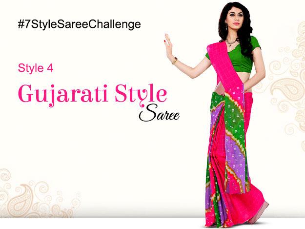 saree style challenge gujarati