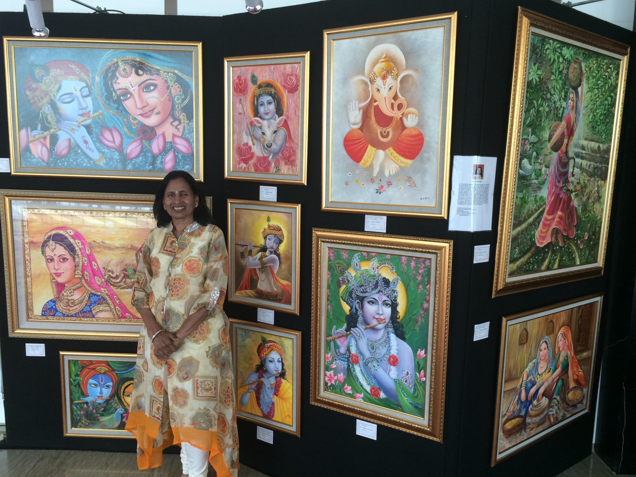 Vijaya Birla at the Indoindians Art Exhibition 2016