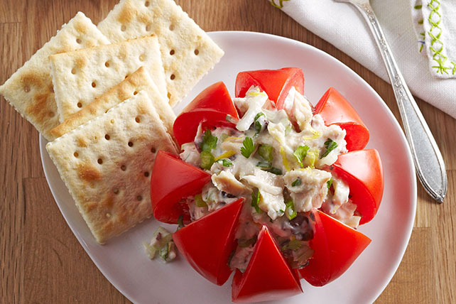 #StuffedVeggies: Tuna-Stuffed Tomatoes Recipe
