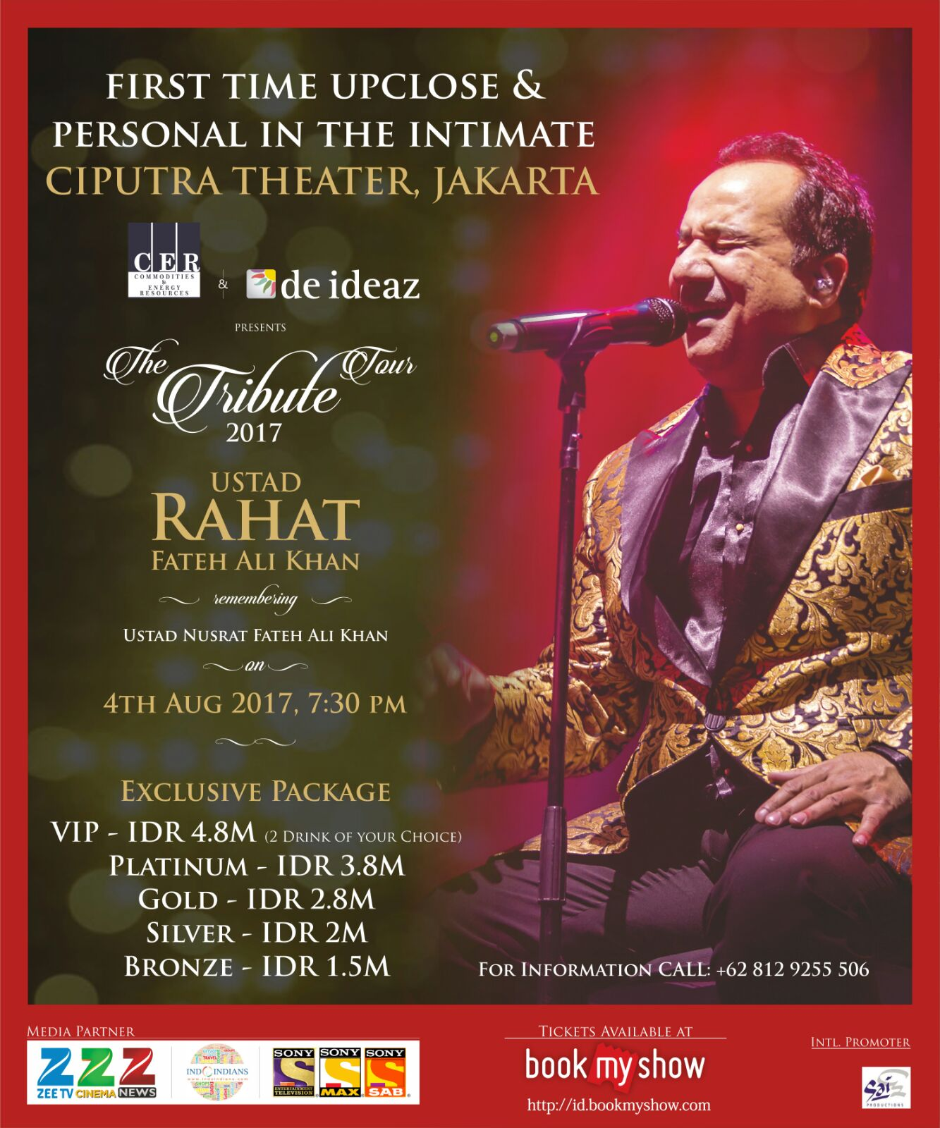 The Tribute Concert 2017 by Ustad Rahat Fateh Ali Khan on 4 Aug at Ciputra Auditorium