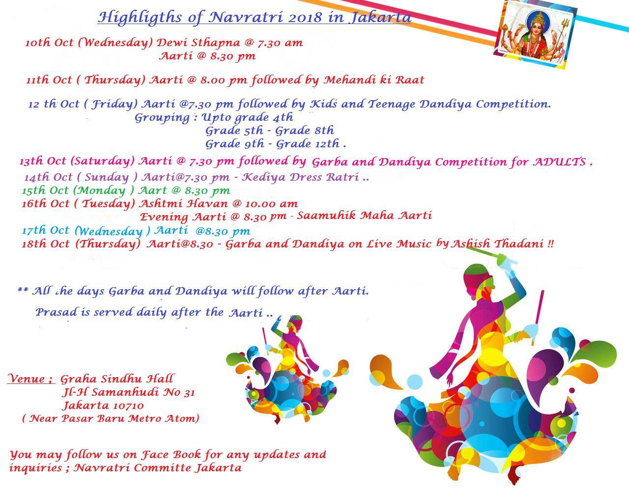 Navratri 2018 highlights