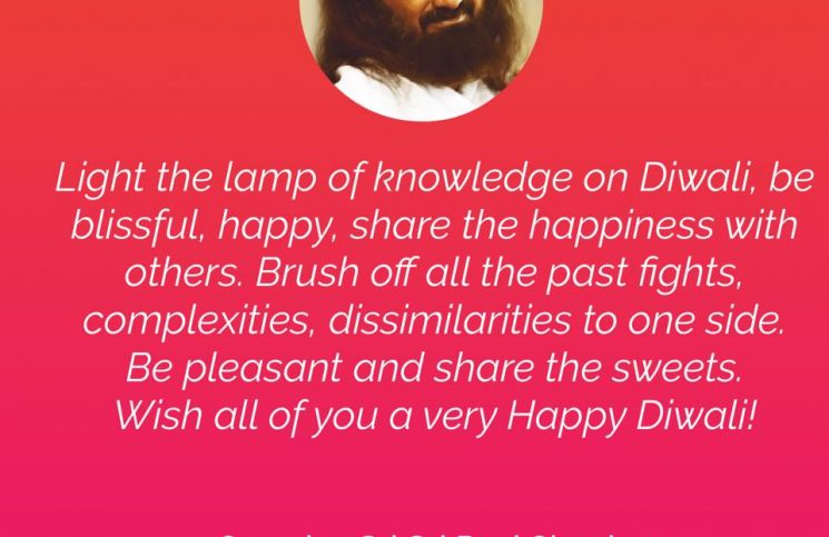 Diwali Message from Sri Sri Ravi Shankar