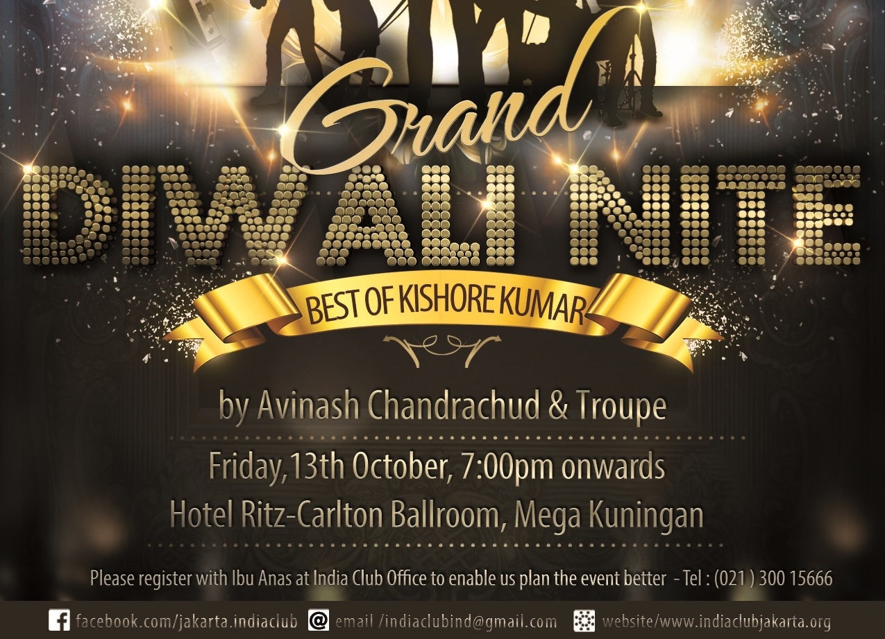India Club Grand Diwali Night, Friday 13th October