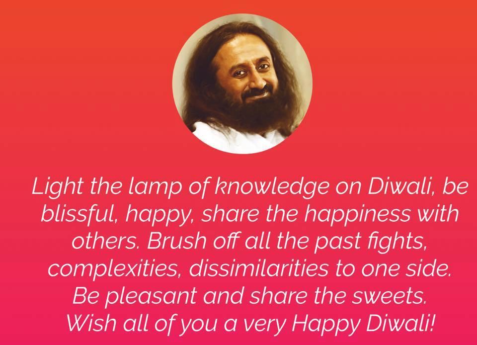 Diwali Message from Sri Sri Ravi Shankar