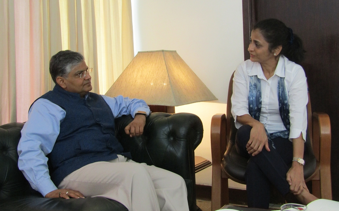 Poonam Sagar in conversation with Ambassador of India to Indonesia HE Pradeep Kumar Rawat