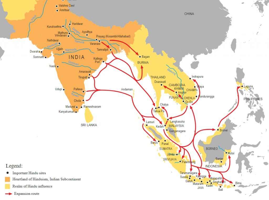 the ancient link between India and Indonesia