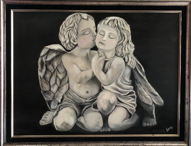 Name of Artist: Raveena Chainani Name of painting: Caring Angels Date: 2010 Size of painting: 70cm x 90cmName of Artist: Raveena Chainani Name of painting: Caring Angels Date: 2010 Size of painting: 70cm x 90cm