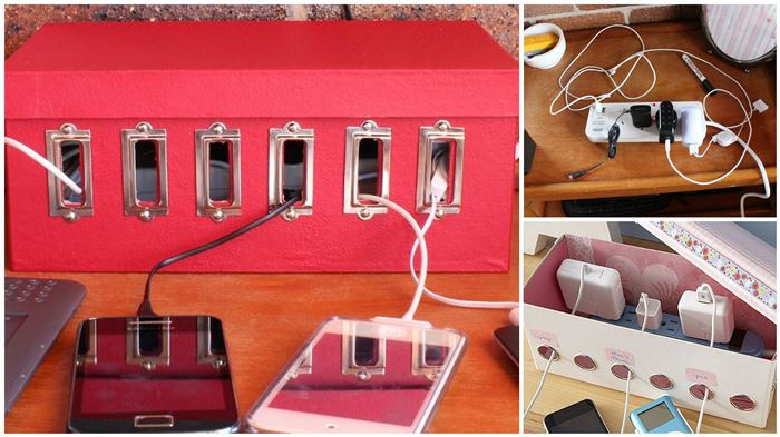 7-ways-to-reuse-shoe-boxes-electronic-charging-station