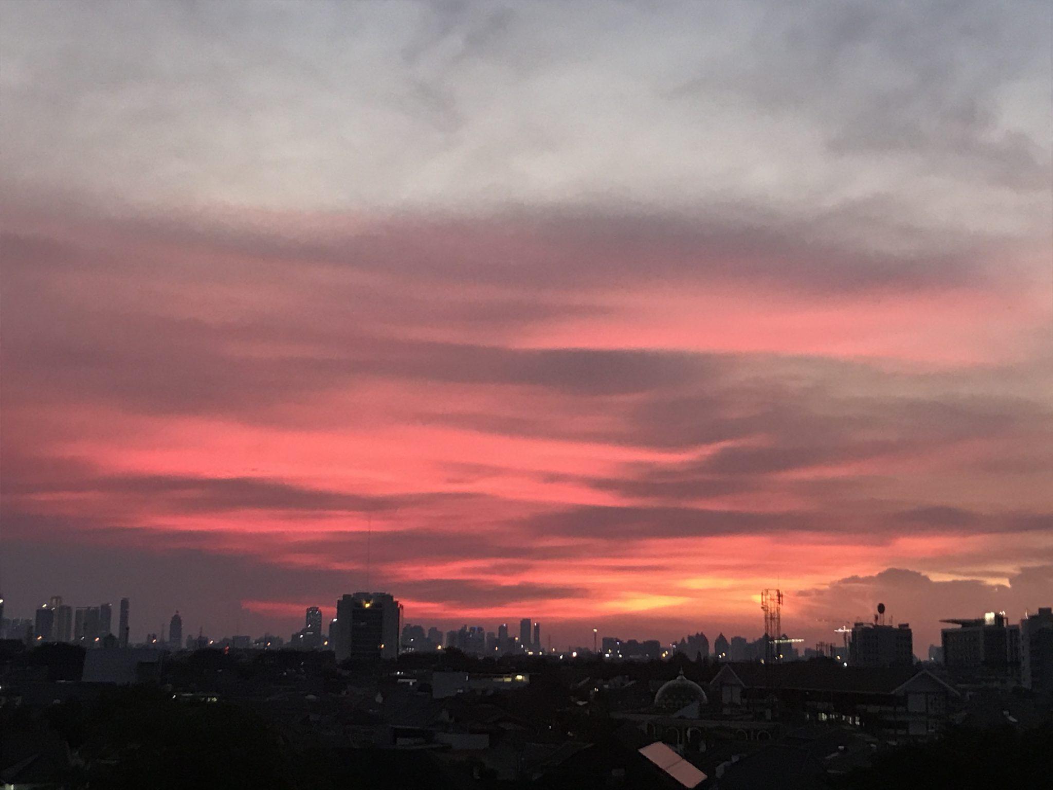 Jakarta Sunset Skyline Photograph by Sonal Sadarangani