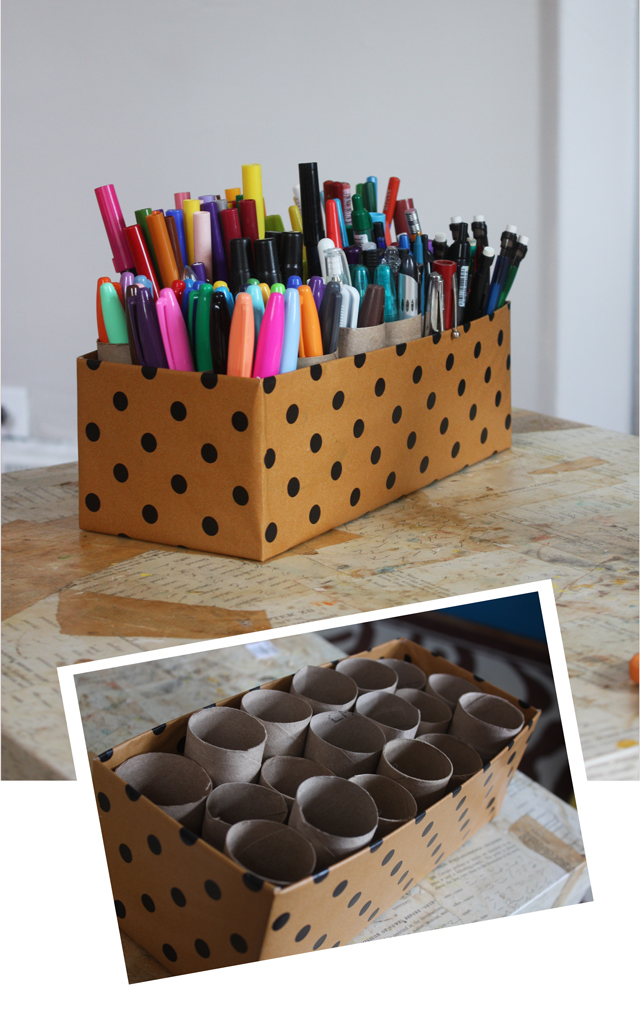 7-ways-to-reuse-shoe-boxes-pens-and-marker-caddy