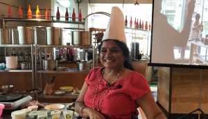 Shanthi Seshadari makes sambar