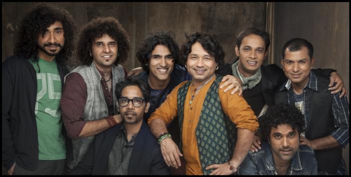 Kailash Kher with his band Kailasa