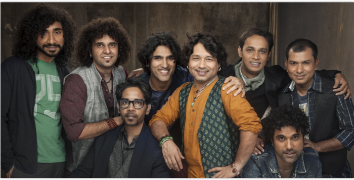 Kailash Kher with his band Kailasa