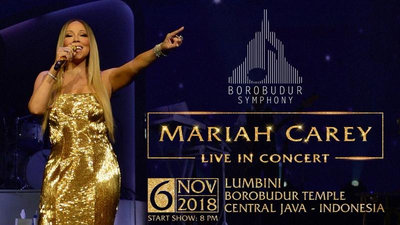 Image result for konser mariah carey di candi borobudur