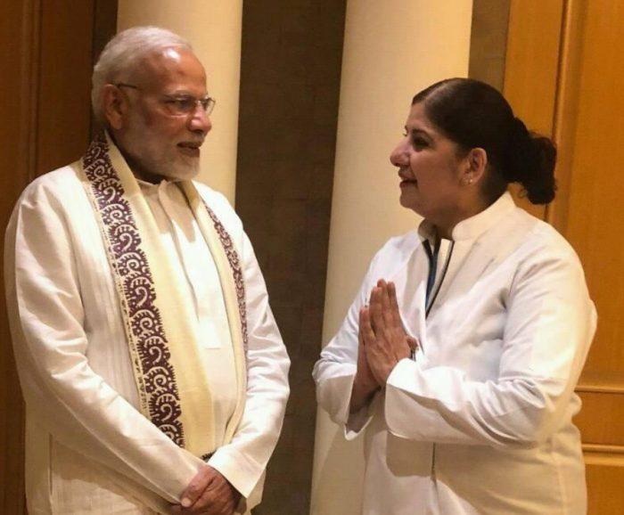 PM Modi with Geetika Sainani