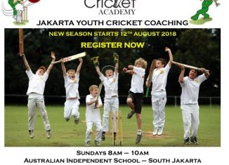 JAKARTA YOUTH CRICKET COACHING @ AIS RESUMES ON 12th August 2018
