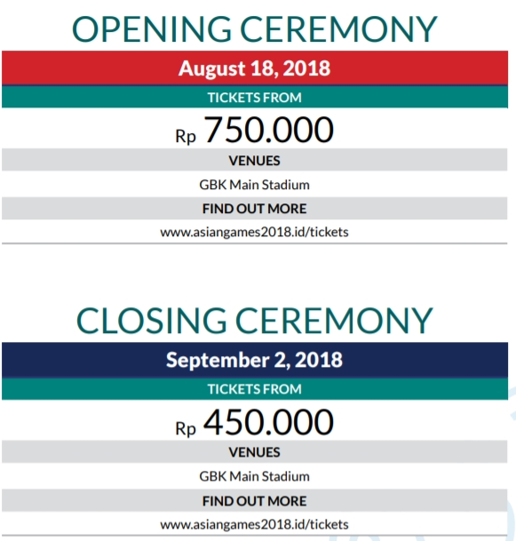 Opening and Closing Ceremony Asian Games 2018