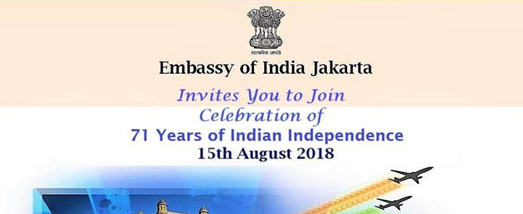 71 Independance day of India in Indonesia