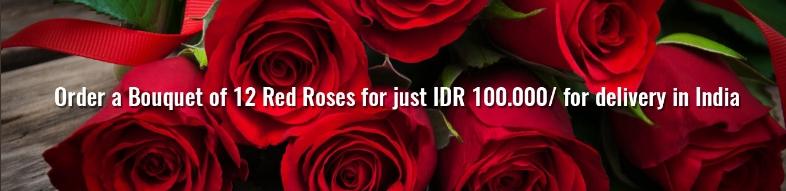 Indoindians Giftshop: Delightful Bouquet Red Roses 12