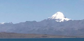 Kailash Parbat and Mansarovar lake