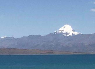 Kailash Parbat and Mansarovar lake