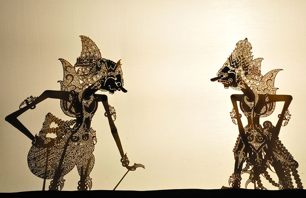 Wayang - shadow puppets in Indonesia