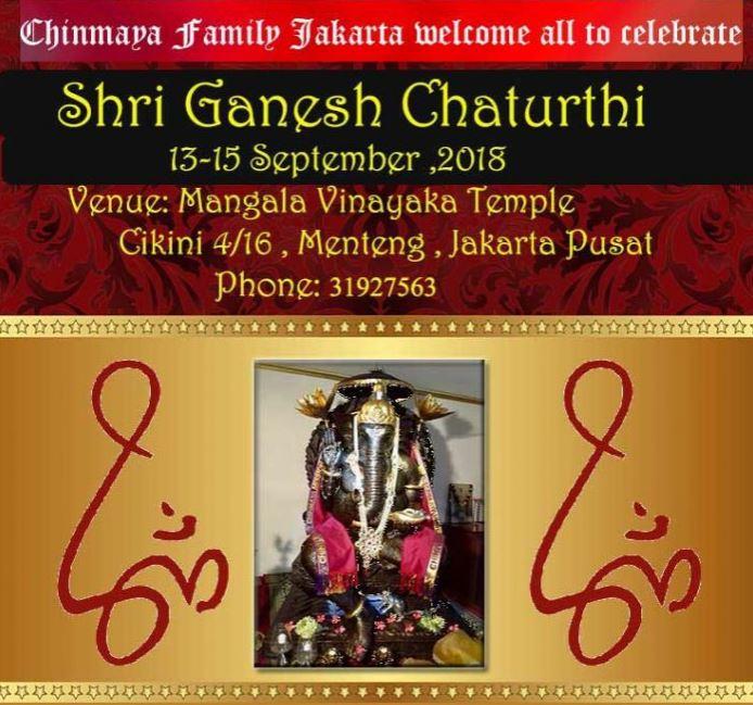 Shri Ganesh Chaturthi Celebrations 2018, Jakarta