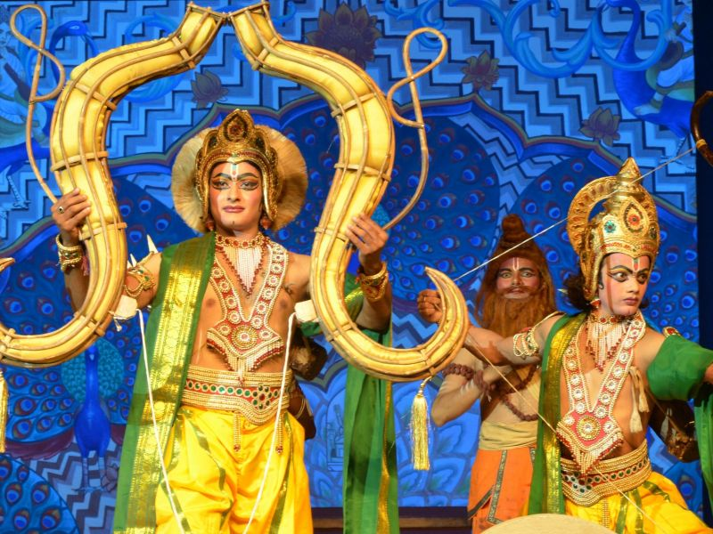 Ramlila on the stage
