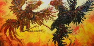 10-Famous-Indonesian-Artists-You-Should-Know-Sabung-Ayam-by-Affandi
