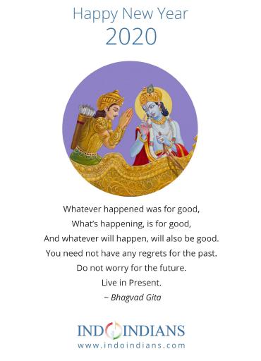 Indoindians Calendar 2020 Bhagvad Gita