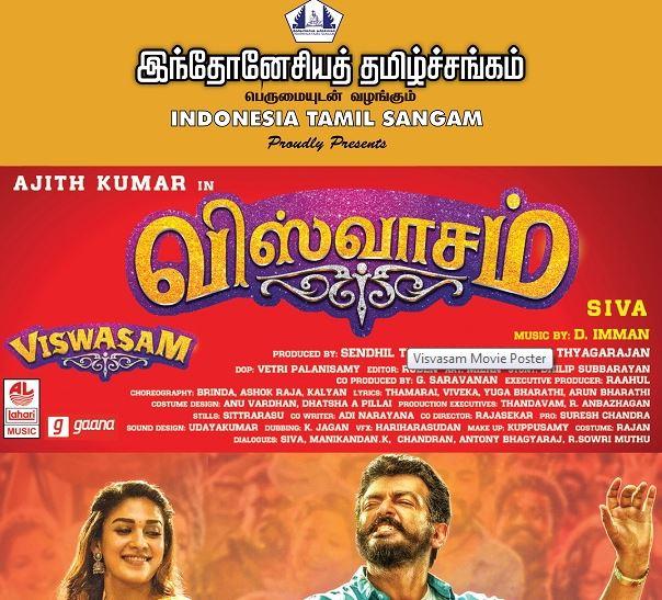 Indonesia Tamil Sangam presents Pongal Release Movie – Thala Ajith's 'VISWASAM'