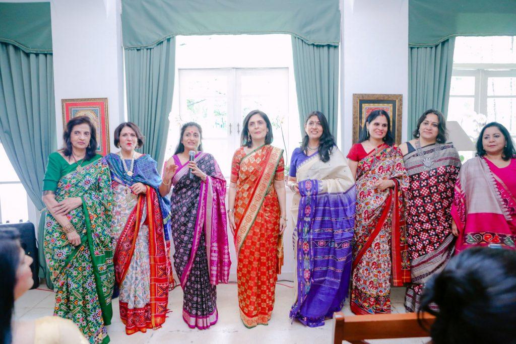 Ladies in Ikat Sarees
