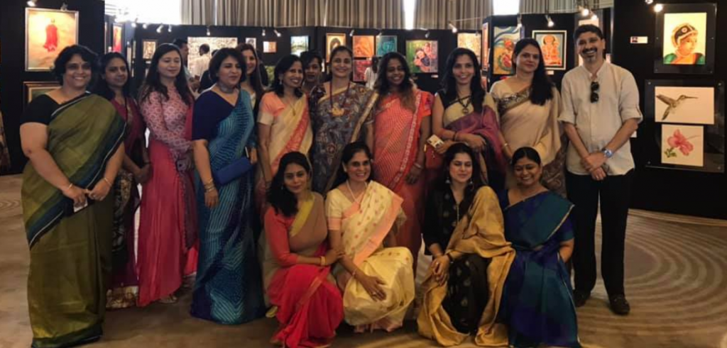 All artists at the Indoindians Charity Art Event